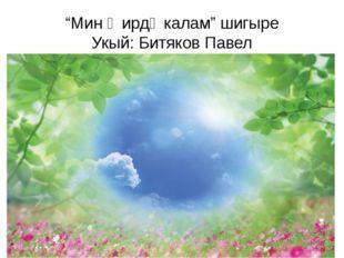 """Мин җирдә калам"" шигыре Укый: Битяков Павел"