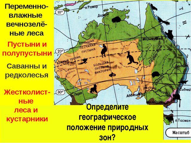 Жестколист- ные леса и кустарники Саванны и редколесья Переменно-влажные вечн...