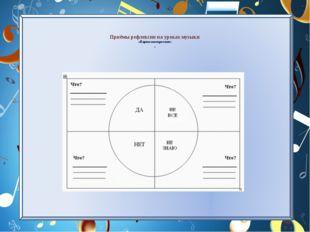 Приёмы рефлексии на уроках музыки «Карта настроения» 1