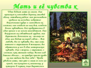 """Мать и её чувства к сыновьям """"Одна бедная мать не спала. Она приникла к изгол"""