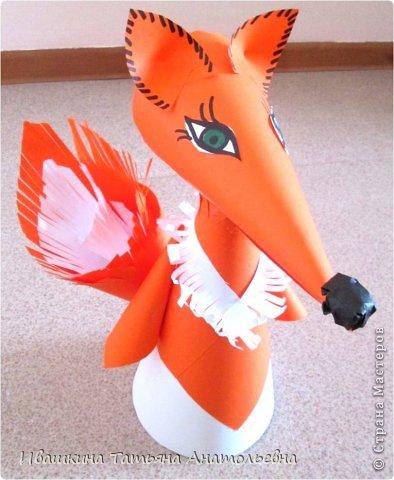 Мастер-класс Поделка изделие Бумагопластика Лисонька лиса - рыжая краса Бумага фото 1