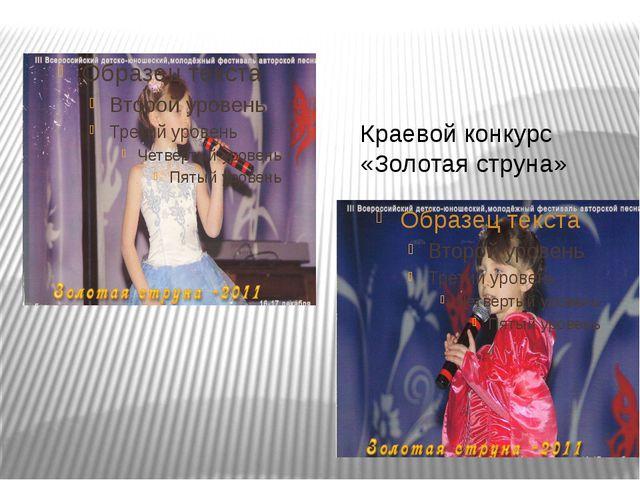 Краевой конкурс «Золотая струна»