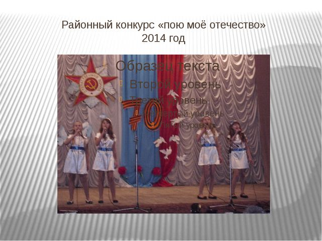 Районный конкурс «пою моё отечество» 2014 год