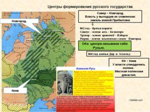 Центры формирования русского государства Новгород. Киев Север – Новгород Влас