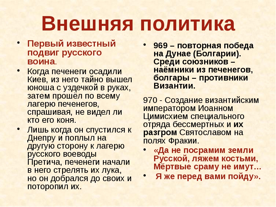 Последний год Святослава 971 – нарушение Византией договоров, нападение на ру...