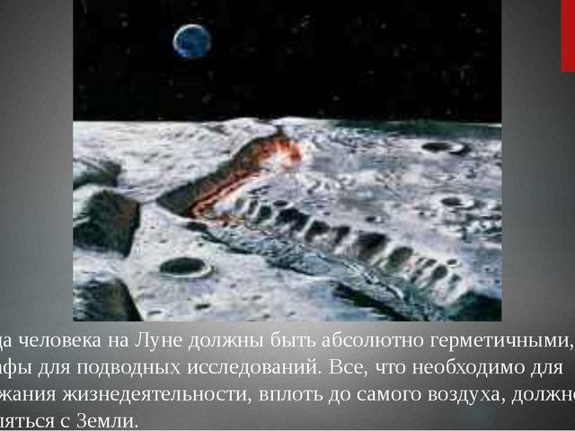 Жилища человека на Луне должны быть абсолютно герметичными, как батискафы дл...
