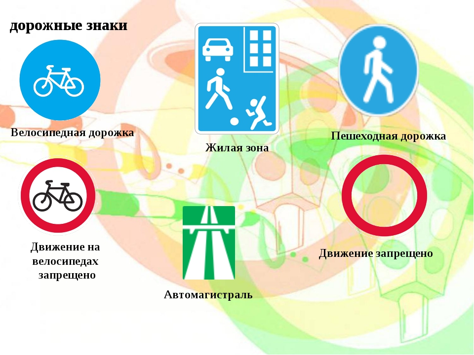 Движение на велосипедах запрещено Велосипедная дорожка Движение запрещено Жил...