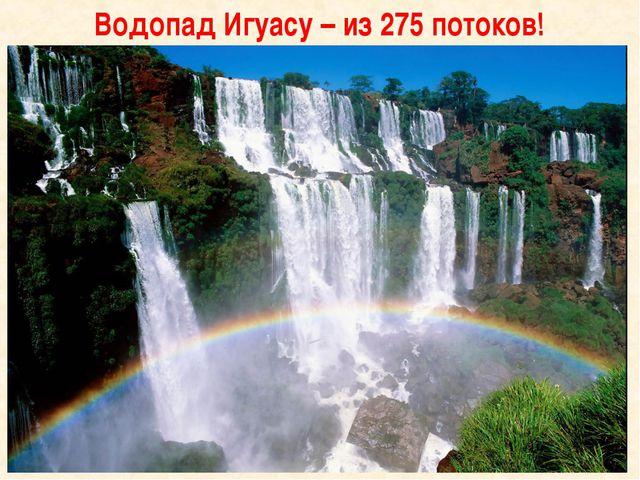 Водопад Игуасу – из 275 потоков!