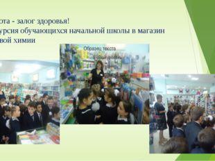 Чистота - залог здоровья! Экскурсия обучающихся начальной школы в магазин быт