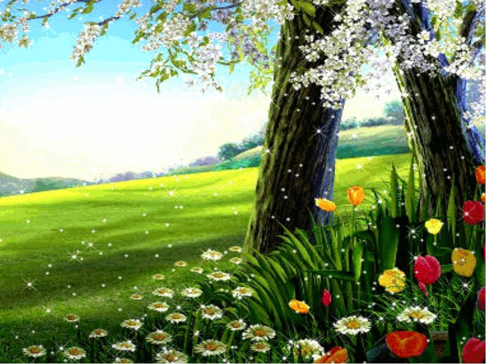Картинка анимация лес весной