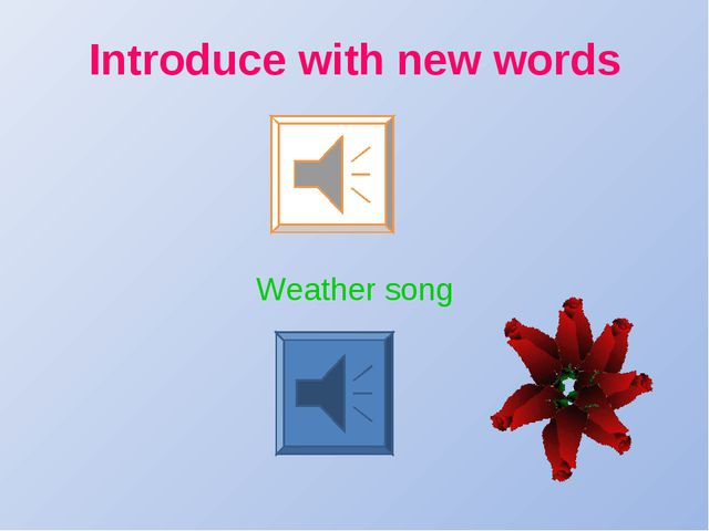 Introduce with new words Weather song
