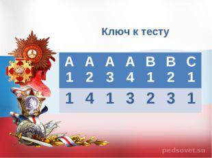 Ключ к тесту А1А2А3А4В1В2С1 1413231