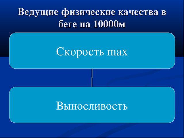 Ведущие физические качества в беге на 10000м