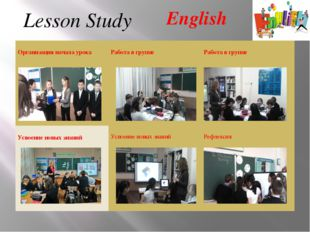 English Lesson Study Организация начала урока Работа в группе Работа в группе