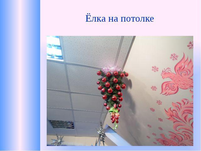 Ёлка на потолке