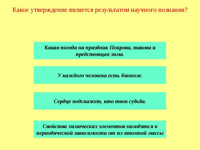 Результат познавательной деятельности не зависит от доступности объекта позна...