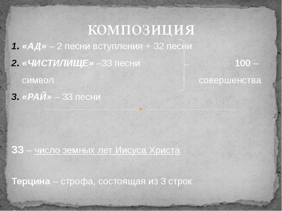 композиция «АД» – 2 песни вступления + 32 песни «ЧИСТИЛИЩЕ» –33 песни 100 – с...