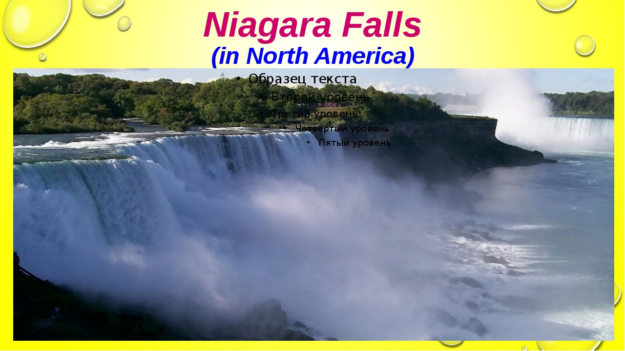 Niagara Falls (in North America)