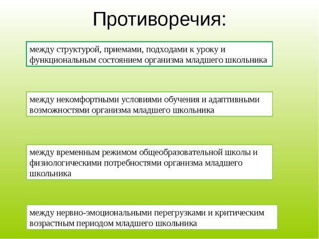 Противоречия: между структурой, приемами, подходами к уроку и функциональным...