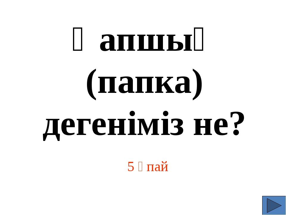 5 Ұпай Қапшық (папка) дегеніміз не?