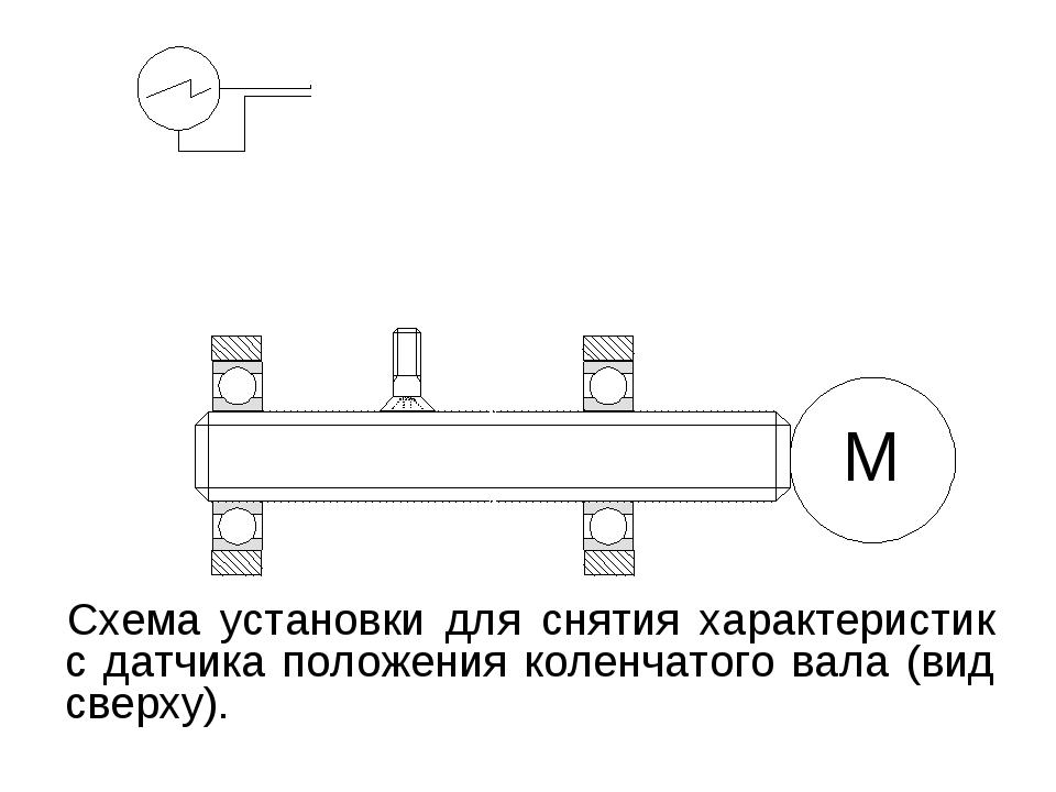 Схема установки для снятия характеристик с датчика положения коленчатого вала...