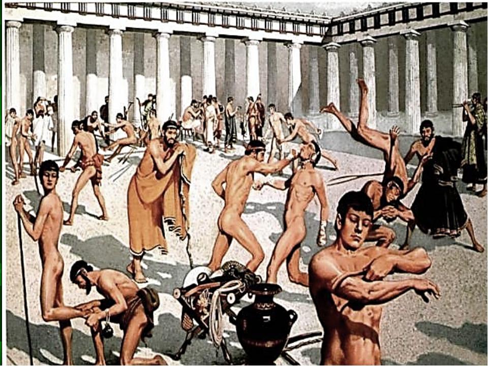 Выводы: Олимпия была центром спортивных состязаний. Игры объединяли древних г...