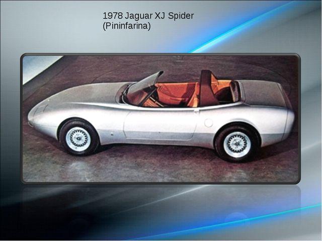1978 Jaguar XJ Spider (Pininfarina)