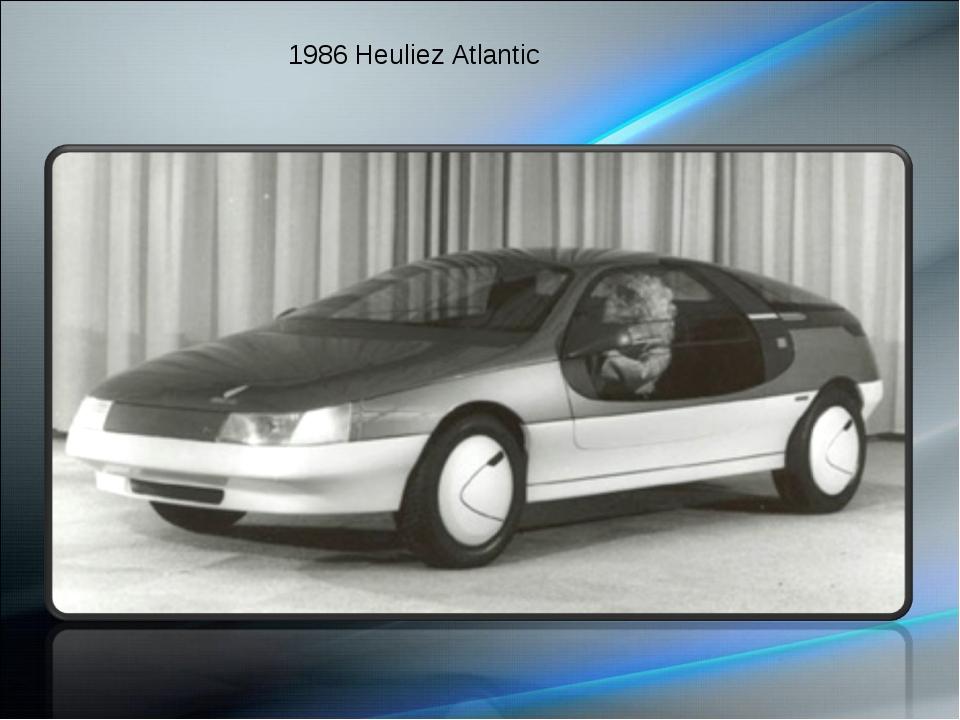 1986 Heuliez Atlantic