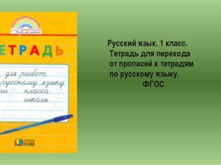 Русский язык. 1 класс. Тетрадь для перехода от прописей к тетрадям по русском