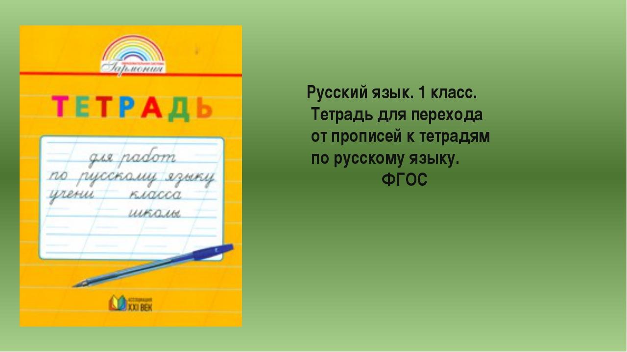 Русский язык. 1 класс. Тетрадь для перехода от прописей к тетрадям по русском...