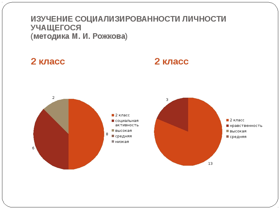 ИЗУЧЕНИЕ СОЦИАЛИЗИРОВАННОСТИ ЛИЧНОСТИ УЧАЩЕГОСЯ (методика М. И. Рожкова) 2 кл...