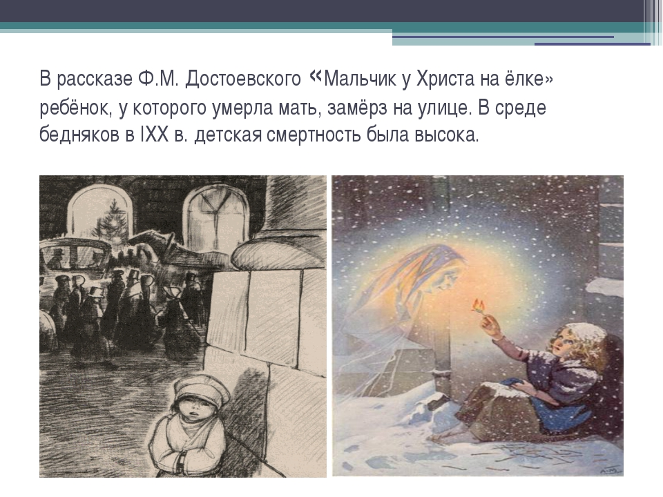 В рассказе Ф.М. Достоевского «Мальчик у Христа на ёлке» ребёнок, у которого у...