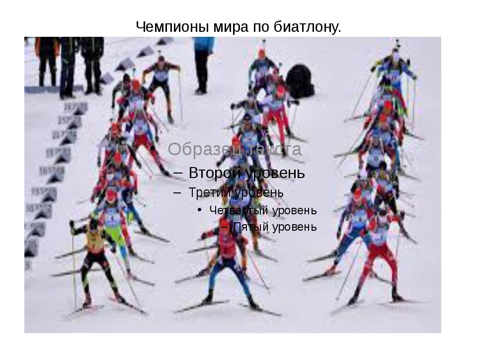 Чемпионы мира по биатлону.