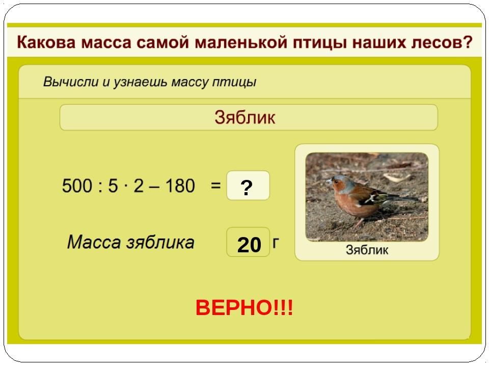 20 ВЕРНО!!! ?