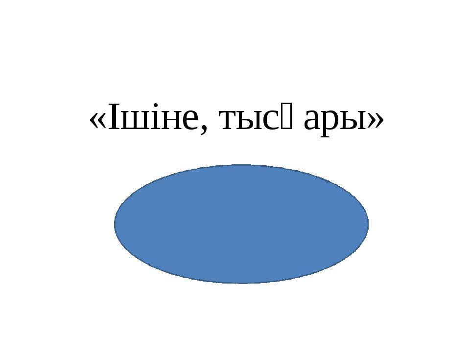 «Ішіне, тысқары»