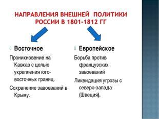 Восточное Проникновение на Кавказ с целью укрепления юго-восточных границ. Со