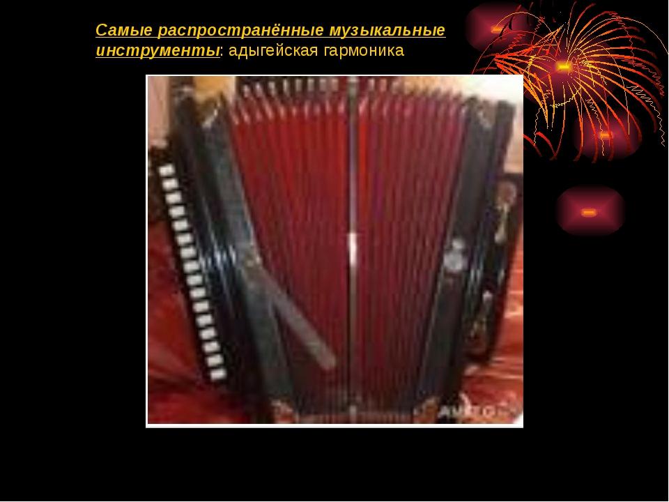 Самые распространённые музыкальные инструменты: адыгейская гармоника