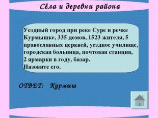 Сёла и деревни района Уездный город при реке Суре и речке Курмышке, 335 домов