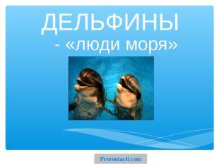 ДЕЛЬФИНЫ - «люди моря» Prezentacii.com