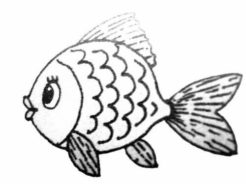 Рисунок рыбки для детей раскраска