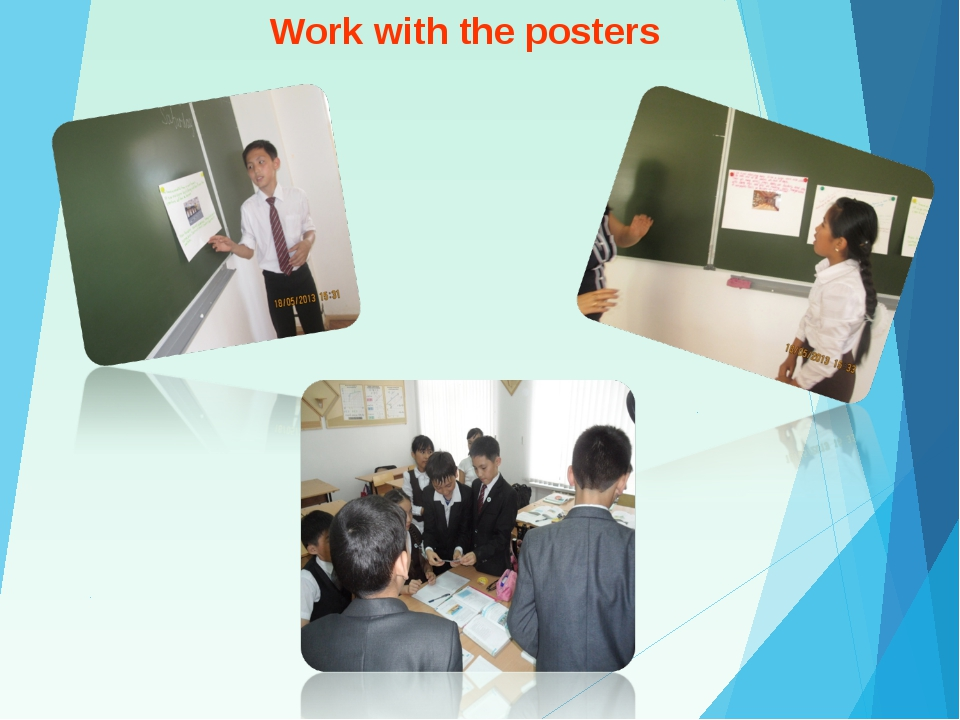 Work with the posters