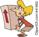 http://images.clipartof.com/thumbnails/441962-Royalty-Free-RF-Clip-Art-Illustration-Of-A-Cartoon-Businesswoman-Lifting-A-Heavy-Box.jpg