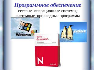 Программное обеспечение сетевые операционные системы, системные прикладные пр