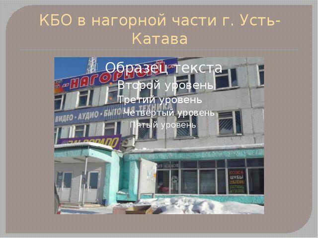 КБО в нагорной части г. Усть-Катава
