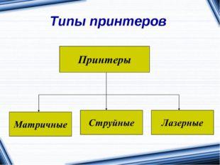 Типы принтеров