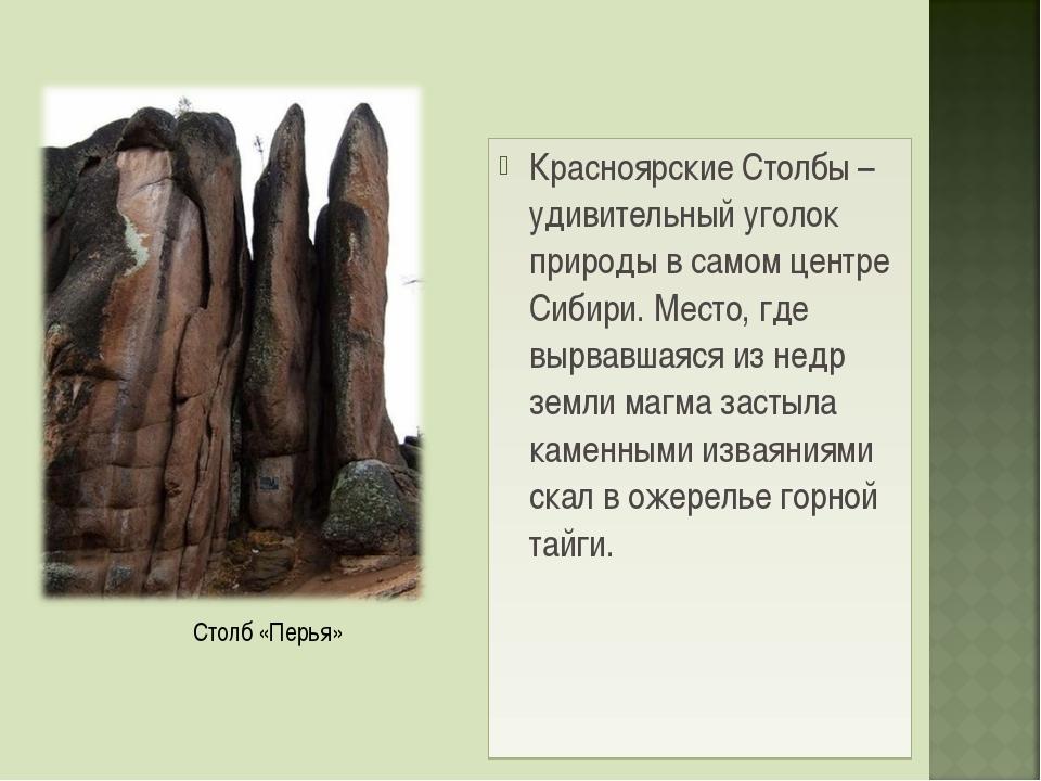 Красноярские Столбы – удивительный уголок природы в самом центре Сибири. Мест...