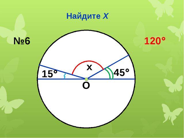 Найдите Х О x 45 15 №6 120