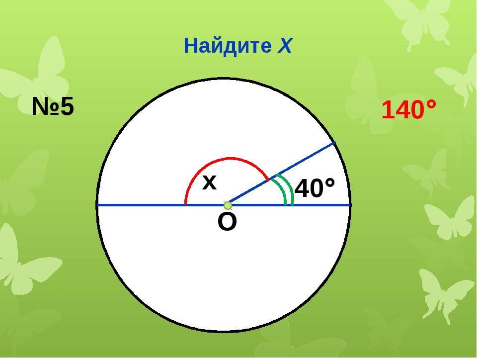 Найдите Х О x 40 №5 140