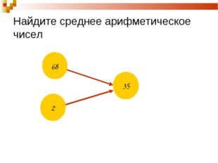 Найдите среднее арифметическое чисел ? 35 68 2