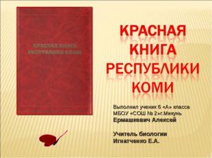 Выполнил ученик 6 «А» класса МБОУ «СОШ № 2»г.Микунь Ермашкевич Алексей Учител
